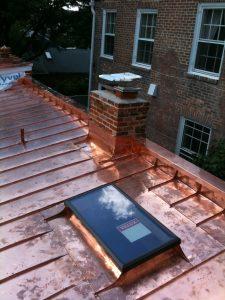 copper skylight flashing