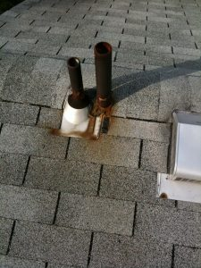 Leaking pipe collar and caulk