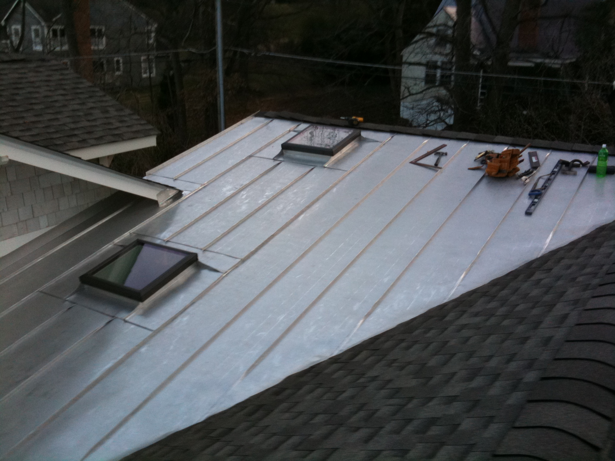 Standing Seam Roof To Shingle Roof