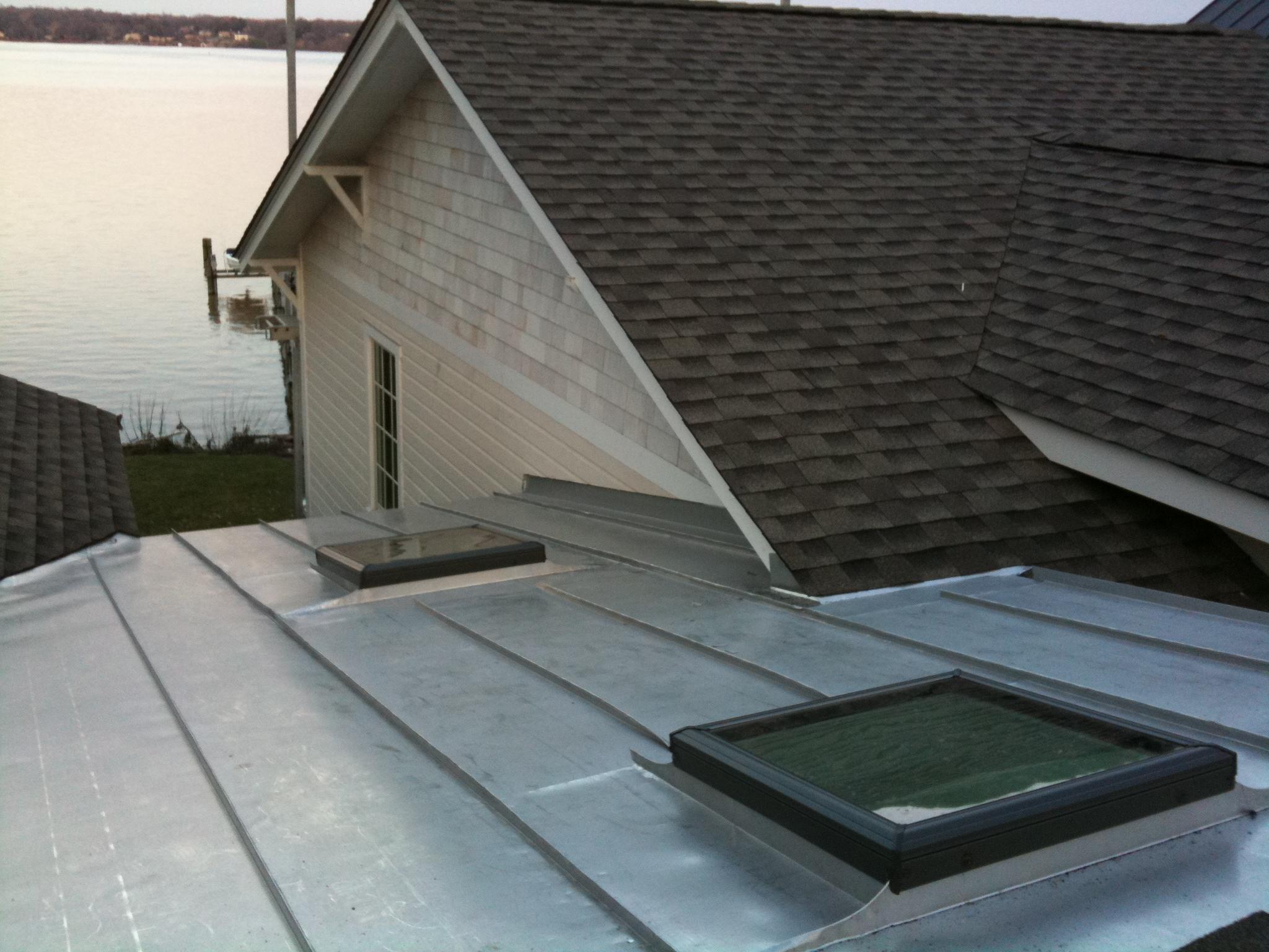 Standing Seam Terne Metal Roof Lyons Contracting