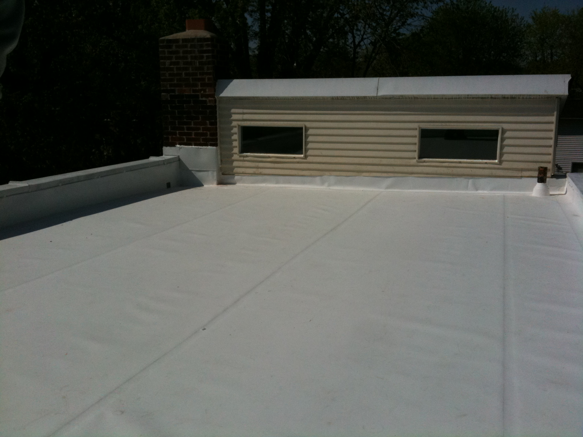 Row House Flat Roof Lyons Contracting