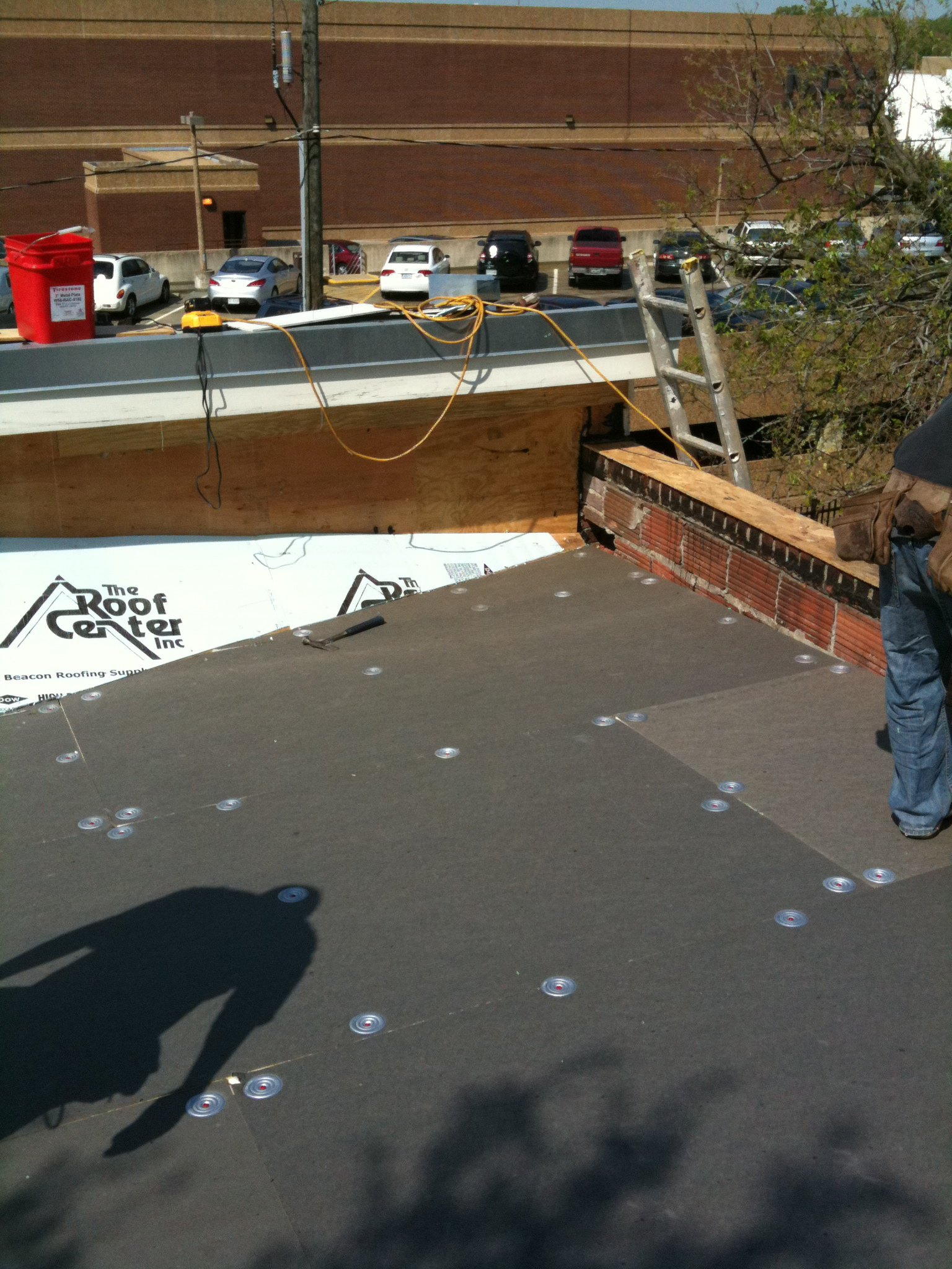 Storm Drain Conductor : Row house flat roof lyons contracting