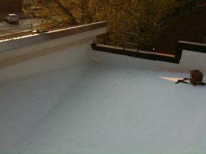 new White TPO flat roof