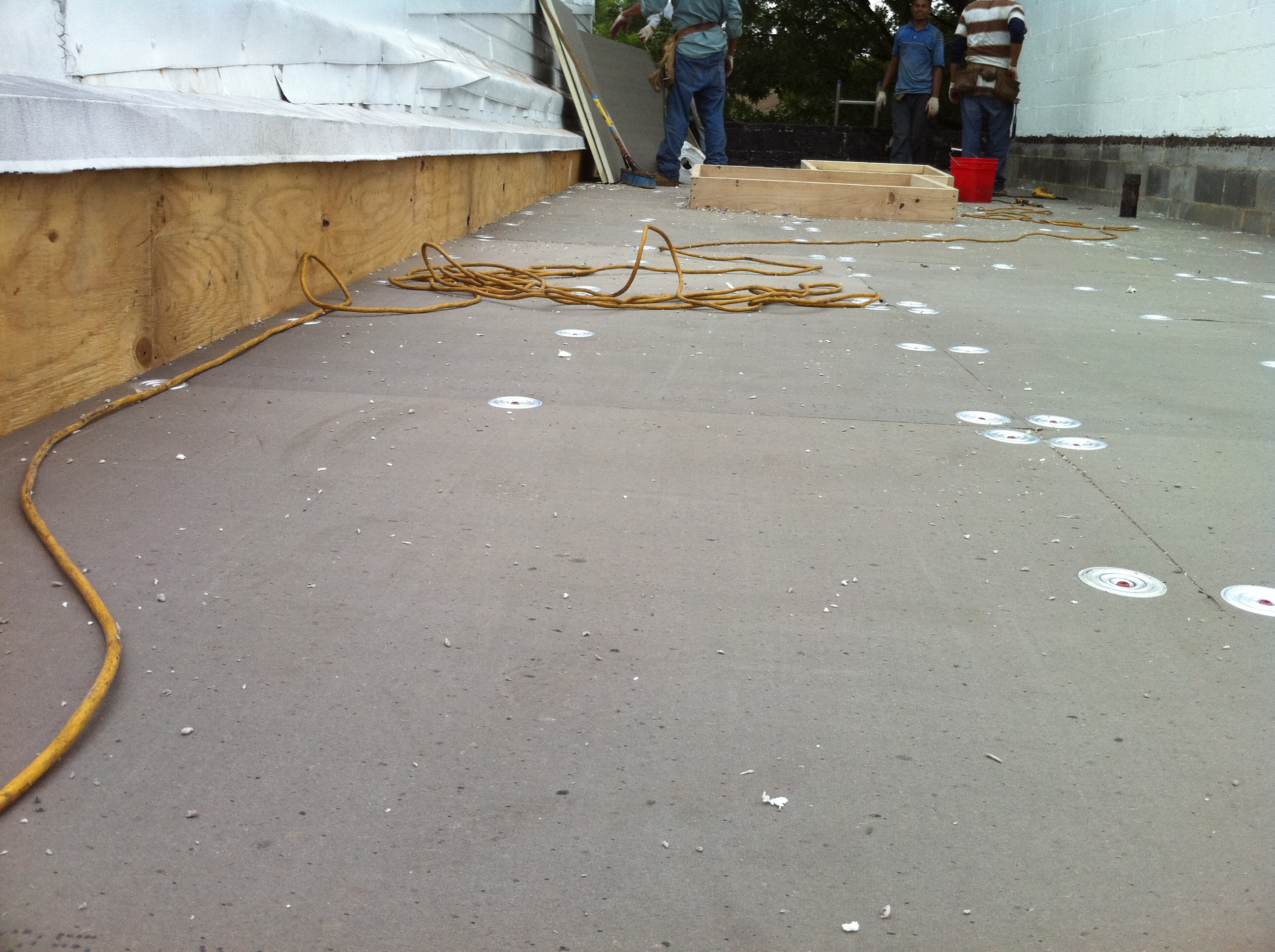 New Flat Roof With Tapered Insulation Lyons Contracting