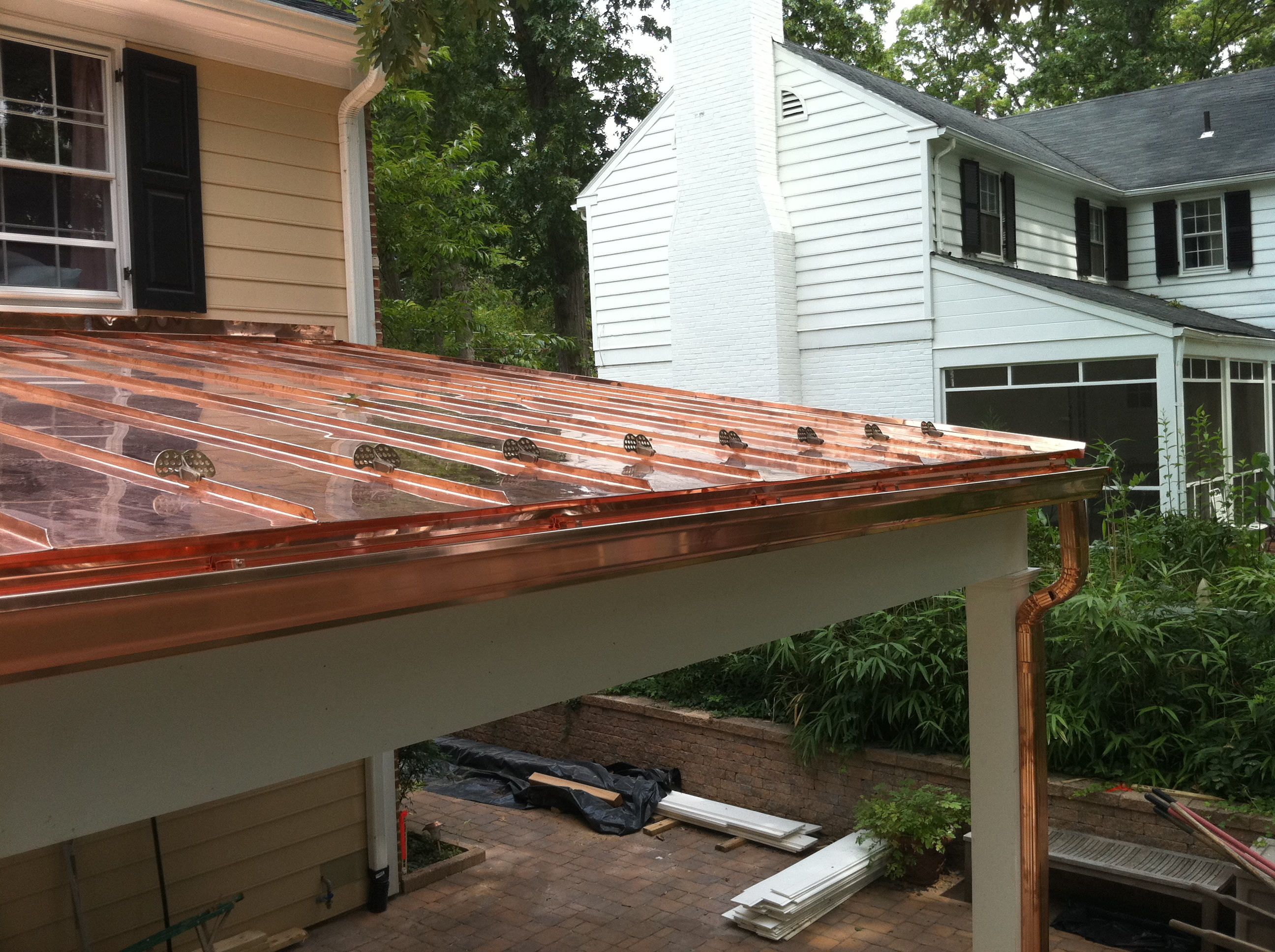 Standing seam copper roof lyons contracting for Copper standing seam roof