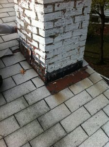 old chimney flashing repair