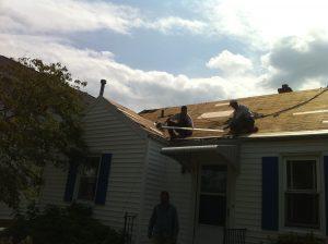 shingle roof tear off