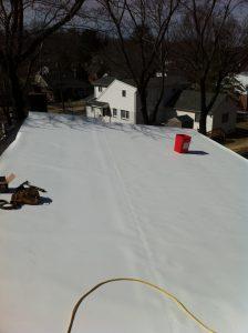 single seam in TPO roof