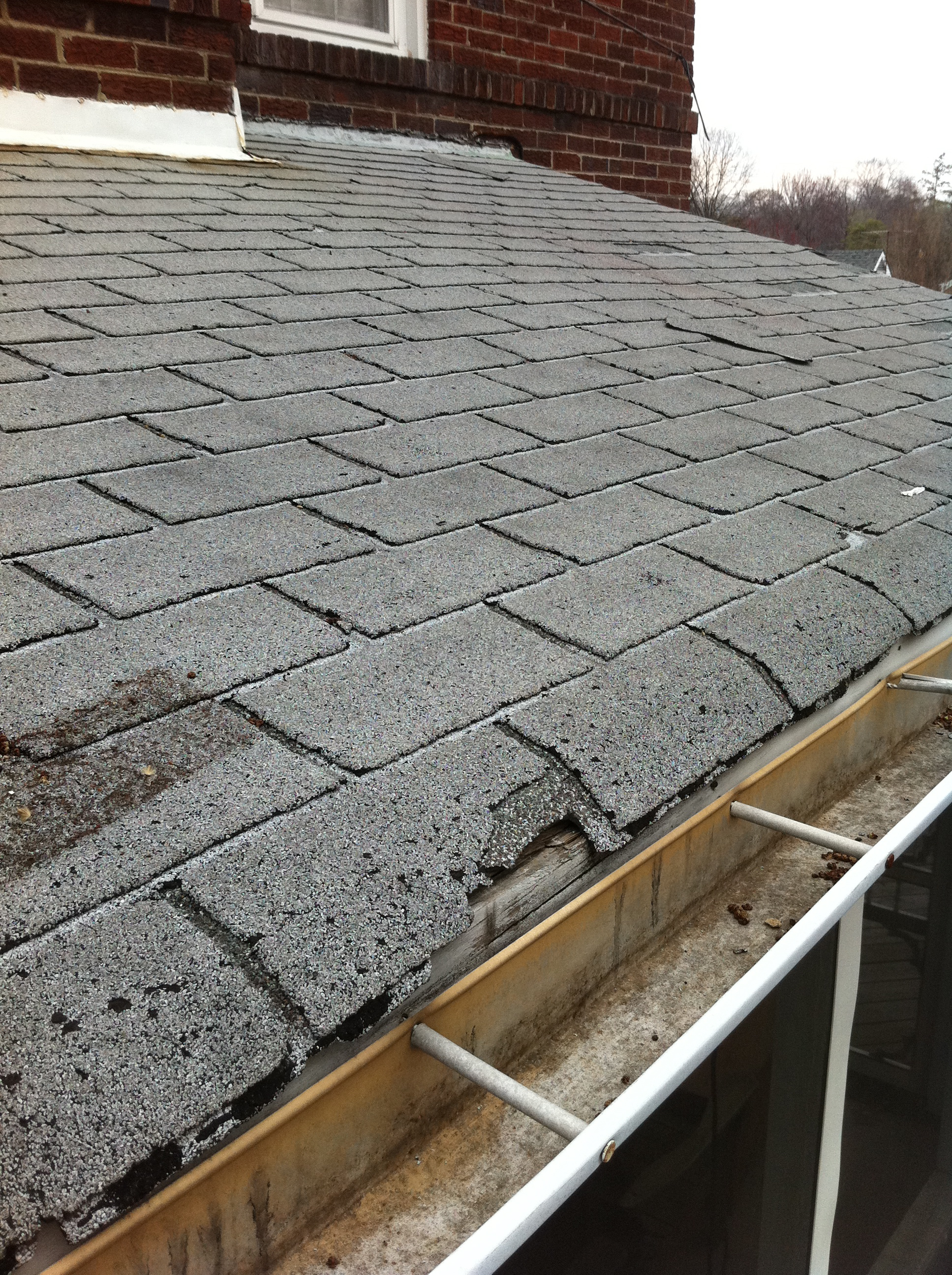 Deteriorated Roof Shingles