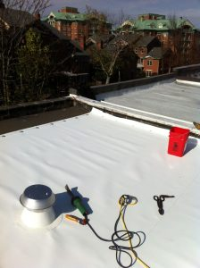 TPO roof with new vent and flashing