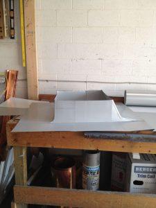 Chimney flashing kit for standing seam roof
