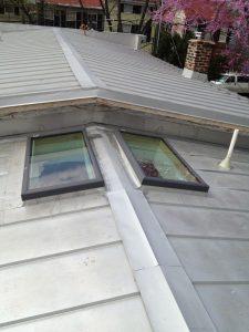 terne metal roof before paint
