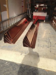 standing seam copper roof panel machine