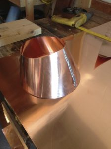 custom made copper roof furnace flue flashing