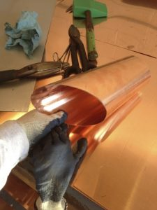 copper pipe flashings