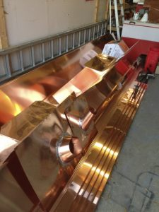 all parts of a standing seam copper roof