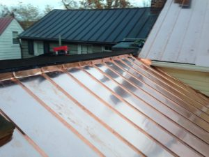 standing seam copper roof wall flashing detail