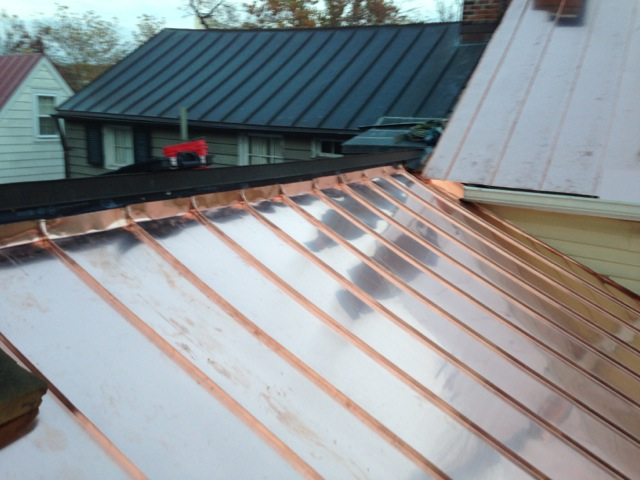Traditional Standing Seam Copper Roofing Lyons Contracting