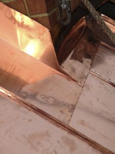 standing seam copper roof chimney flashing