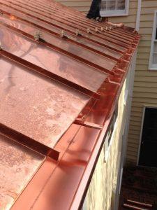 new copper gutters
