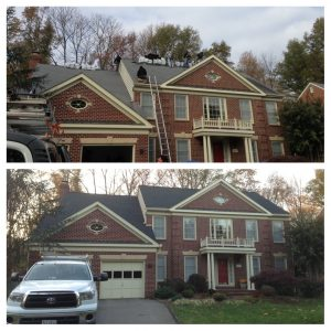 New shingle roof in Timberline Charcoal in Alexandria, VA