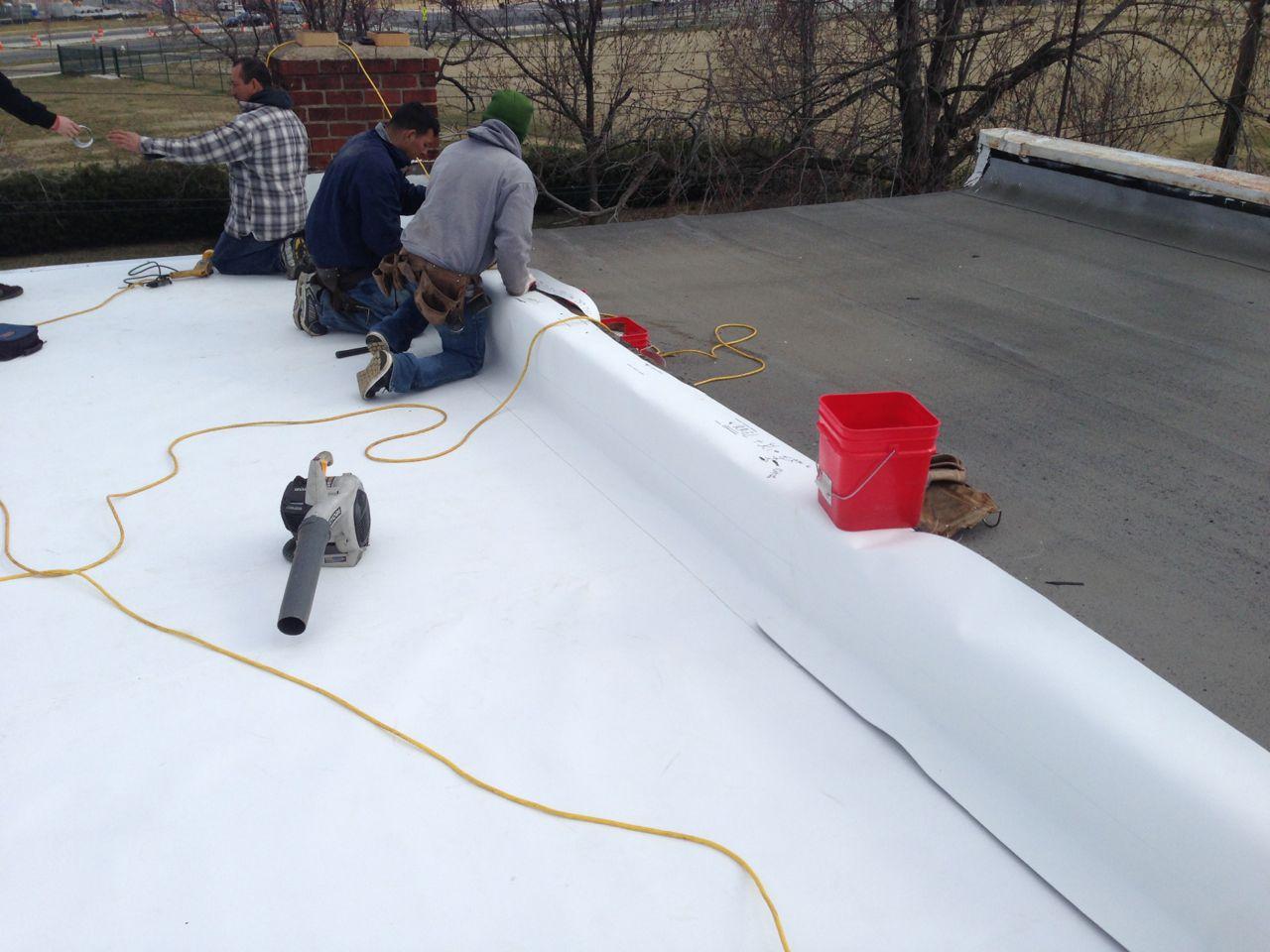 Flat Roof Ponding Water In Alexandria Va Lyons Contracting
