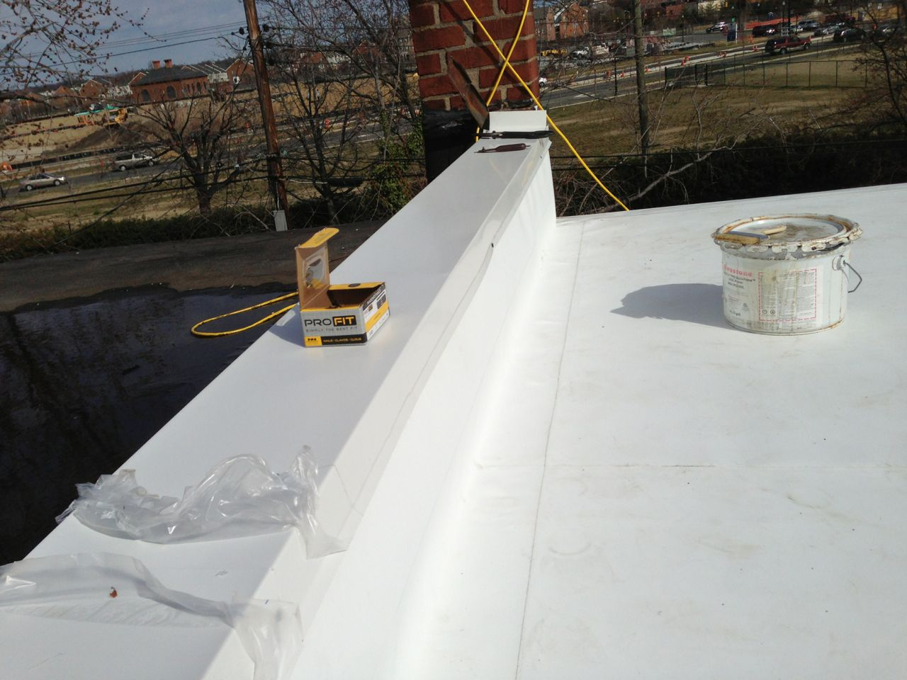Flat Roof Ponding Water In Alexandria Va Lyons Contracting