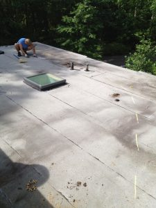 test cutting flat roof