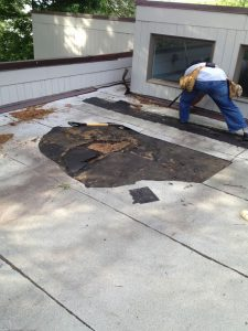 flat roof removal
