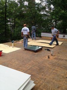 Flat roof decking replacement