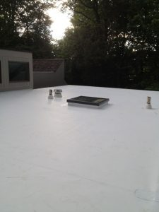 TPO flat roof flashings