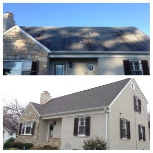 Timberline Weathered Wood roof replacement in northern Virginia