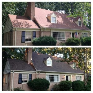 New GAF Timberline Barkwood shingle roof in Arlington, VA roof replacement in northern Virginia