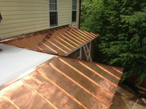standing seam copper roof hip and ridge seam