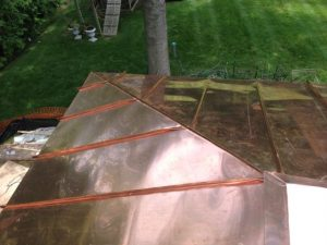 standing seam copper roof hip seam