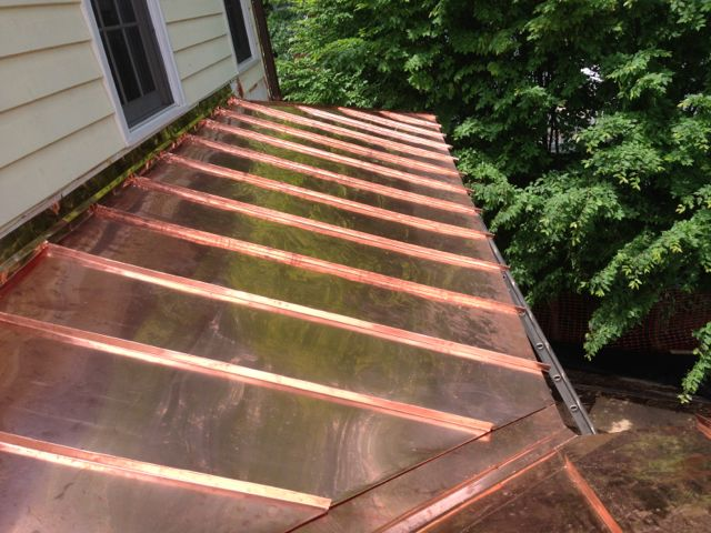 Standing seam copper roof in alexandria va lyons for Standing seam copper