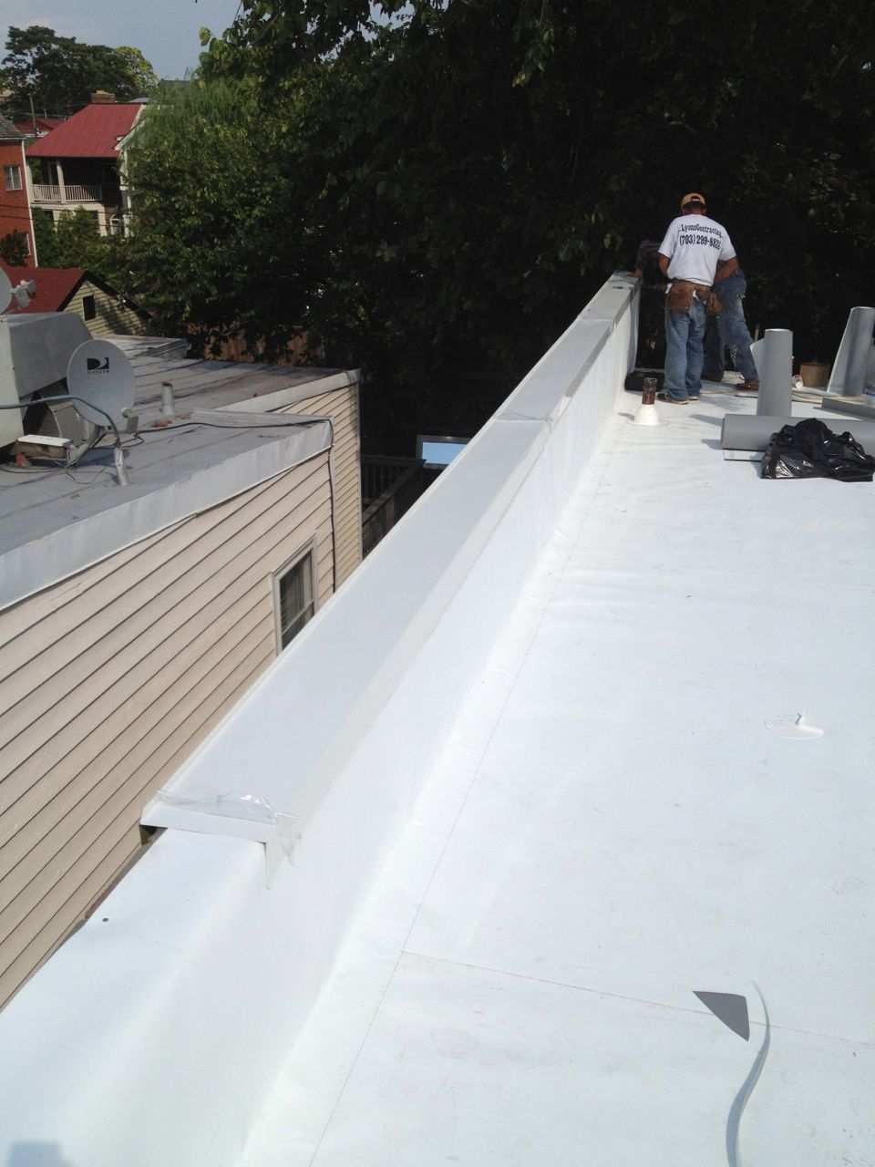 Flat Roof Replacement And Metal Cornice Lyons Contracting